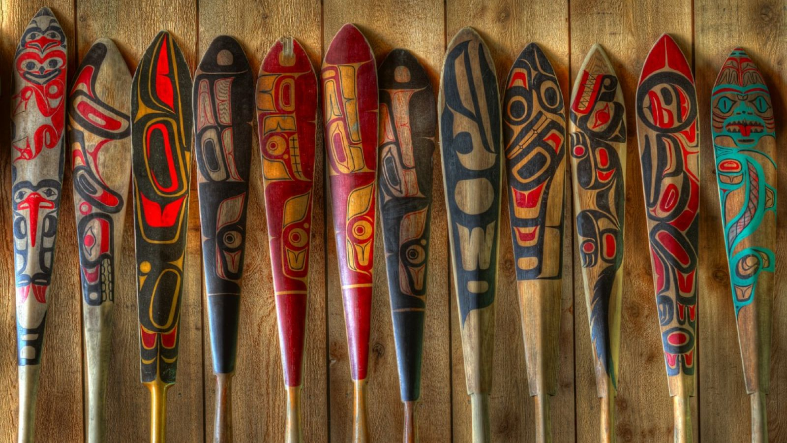 Hand Carved Canoe paddles