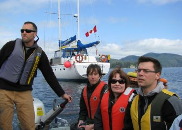 Exploring the shorelines of Haida Gwaii in the zodiac