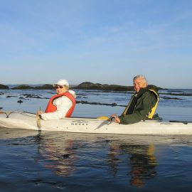 Exploring by stable sea kayak