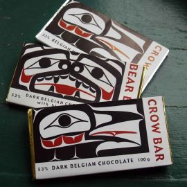 Saltspring chocolate bars with jim hart design